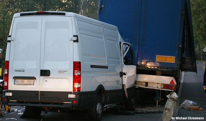 Van Rear Ends a Truck