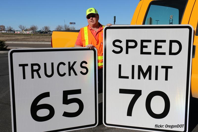 Truck speed limit